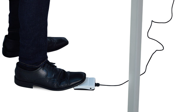 Foot switch to activate measurement process