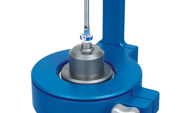 Spherotronic-head-with-mechanical-pressure-pad-transparent-Precise-tactile-radius-measurement-238-Triopticsblau-neu