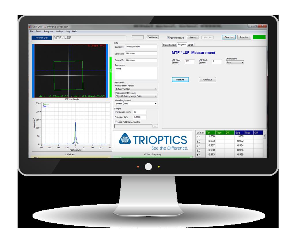 MTF Lab Software für ImageMaster® Universal