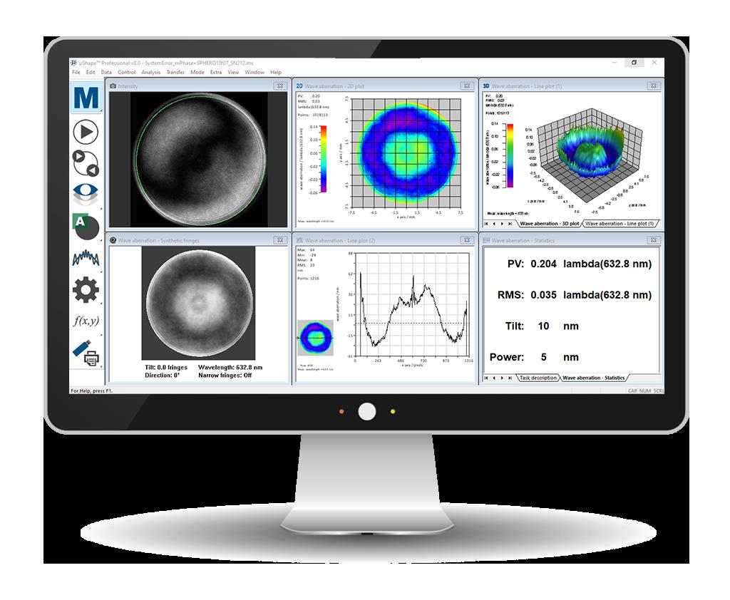 µShape-software-µPhase-Interferometer