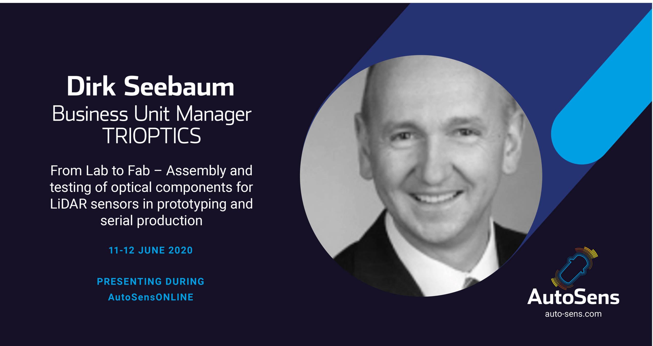 Speaker AutoSens Online Dirk Seebaum